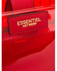 Essentiel Antwerp Smooch トートバッグ Red