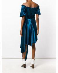 Preen By Thornton Bregazzi - Blue Velvet Courtney Dress - Lyst
