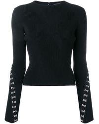 Декорированный Крючками Джемпер Alexander McQueen, цвет: Black