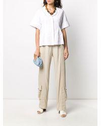 Bottega Veneta Natural Fluid Cargo-style Trousers