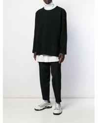 Maglione a girocollo di Yohji Yamamoto in Black da Uomo