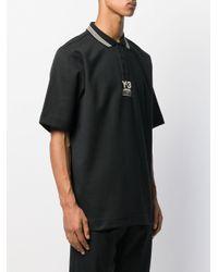 メンズ Y-3 ポロシャツ Black