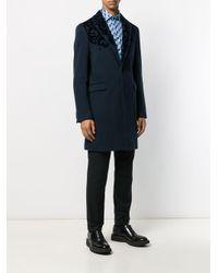 Однобортное Пальто Etro для него, цвет: Blue