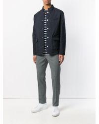 PT01 Gray Slim Fit Trousers for men