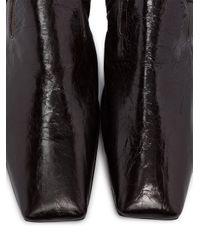 Фактурные Слиперы С Квадратным Носком Bottega Veneta для него, цвет: Brown