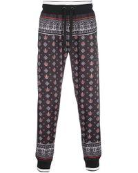 メンズ Dolce & Gabbana プリント トラックパンツ Black