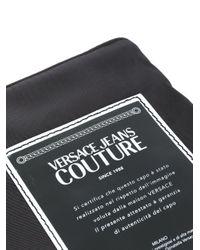 メンズ Versace Jeans ロゴ クラッチバッグ Black