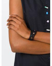 DIESEL - Black Studded Bracelet - Lyst