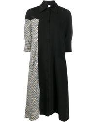 Ultrachic Black Pied De Poule Shirt Dress