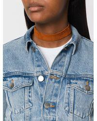 Manokhi Brown Leather Chocker