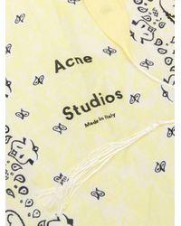 Acne ロゴ バンダナスカーフ Yellow
