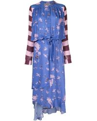 Preen Line Daisy ロングドレス Blue