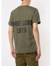 T-shirt Three Lions di Kent & Curwen in Green da Uomo