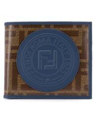 メンズ Fendi 二つ折り財布 Blue