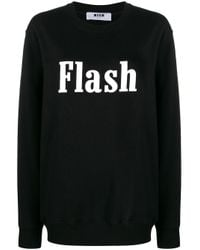 Felpa Flash oversize di MSGM in Black