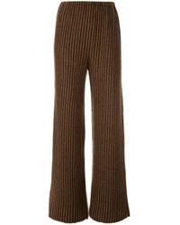 Pantaloni a righe di The Row in Brown