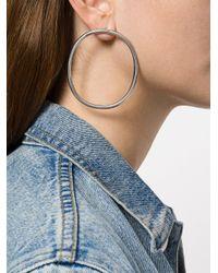 Off-White c/o Virgil Abloh - Gray W Oversized Earrings - Lyst