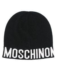 Шапка Бини С Логотипом Moschino, цвет: Black