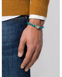 Eleventy - Blue Beads Charm Bracelet for Men - Lyst