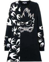 Vestito con stampa di McQ Alexander McQueen in Black