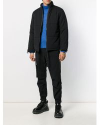 メンズ A_COLD_WALL* ジップ パデッドジャケット Black