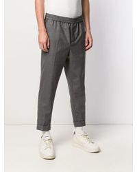 メンズ AMI クロップドフィット パンツ Gray