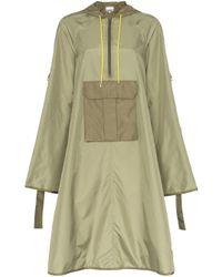 Abrigo con capucha Aspen Ganni de color Green