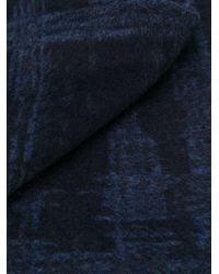 メンズ Ermenegildo Zegna チェック スカーフ Blue