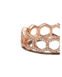 Astley Clarke Honeycomb ダイヤモンドリング Metallic