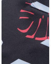 Versace Jeans Black Colour-block Drawstring Shorts