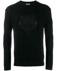 KENZO Black Logo Sweatshirt for men