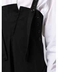 Y's Yohji Yamamoto ドレープ ジャンパースカート Black