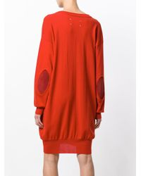 Maison Margiela - Red Slouched Sweater Dress - Lyst