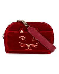 Charlotte Olympia Red Cat Waist Bag