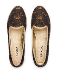 Prada Black Jacquard Slippers