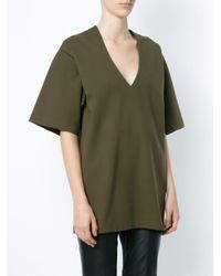 Shortsleeved blouse Gloria Coelho en coloris Green