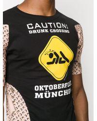 メンズ MARINE SERRE グラフィック Tシャツ Black