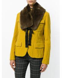 Yves Salomon Brown Four Rex Jacket