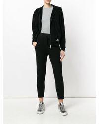 Cardigan zippé en velours DSquared² en coloris Black