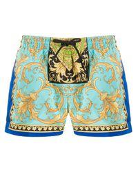 Плавки-шорты С Принтом Barocco Versace для него, цвет: Blue