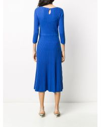 N.Peal Cashmere リブニット ドレス Blue