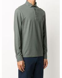 メンズ Dell'Oglio ロングスリーブ ポロシャツ Multicolor