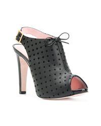 RED Valentino - Black Polka Dot Slingback Sandals - Lyst