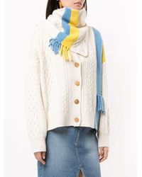 SJYP Neck Warmer Detailed Cardigan Multicolor