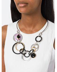 Marni - Metallic Interlocking Loop Statement Necklace - Lyst