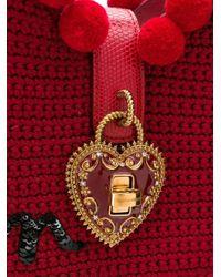 Dolce & Gabbana エンブロイダリーショルダーバッグ Red