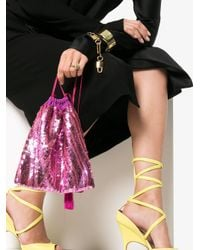 Attico - Pink Sequined Pouch - Lyst