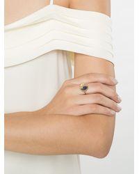 Aurelie Bidermann - Metallic Chivor Ring With Sapphires - Lyst