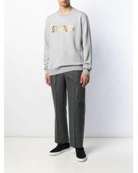 メンズ Golden Goose Deluxe Brand ロゴ スウェットシャツ Gray