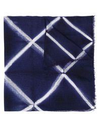 Шарф С Геометричным Узором Suzusan, цвет: Blue